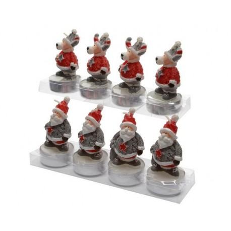 Candele a forma di figure di Natale. Set di 4