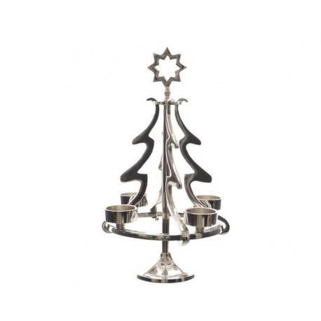 Albero di Natale in alluminio porta Tealights
