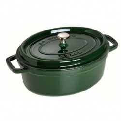 Cocotte Ovale 33 cm Verde Basilico in Ghisa
