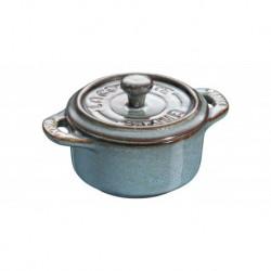 Mini Cocotte 10 cm Ancient Turquoise in Ceramica