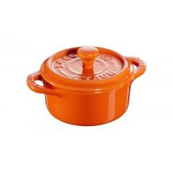 Mini Cocotte 10 cm Arancione in Ceramica