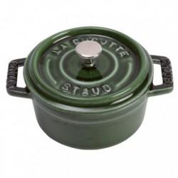 Mini Cocotte 10 cm Verde Basilico in Ceramica
