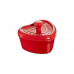 Mini Cocotte Cuore 10 cm Rossa in Ceramica