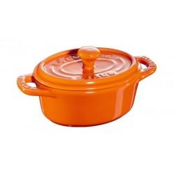 Mini Cocotte Ovale 11 cm Arancione in Ceramica