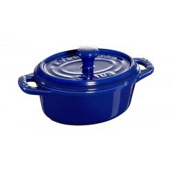 Mini Cocotte Ovale 11 cm Blu Scura in Ceramica
