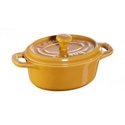 Mini Cocotte Ovale 11 cm Senape in Ceramica