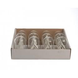 Miniature in legno con luce calda. Pezzo Singolo