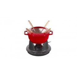 Set Fonduta Gourmet 18 cm Rosso in Ghisa