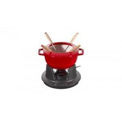 Set Fonduta Gourmet 20 cm Rosso in Ghisa