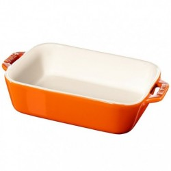 Pirofila Gratin Rettangolare 26 x 17 cm Arancione in Ceramica
