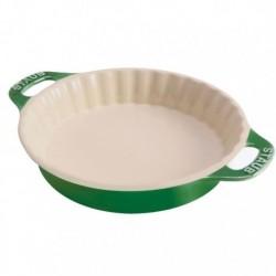Tortiera Tonda 30 cm Verde Basilico in Ceramica