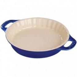 Tortiera Tonda 36 cm Blu Scura in Ceramica
