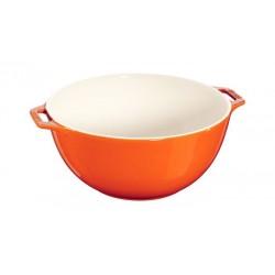 Insalatiera con Manico 25 cm Arancione in Ceramica