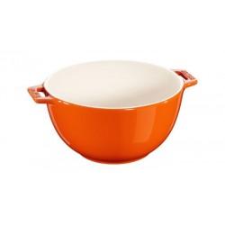 Insalatiera con Manico 18 cm Arancione in Ceramica