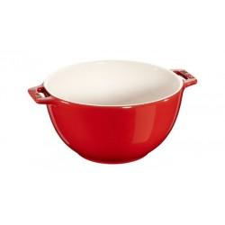 Insalatiera con Manico 25 cm Rossa in Ceramica