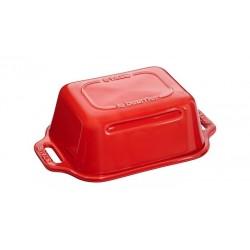 Piatto per Burro 18 x 12 cm Rosso in Ceramica