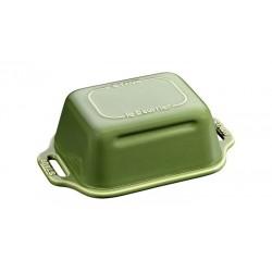 Piatto per Burro 18 x 12 cm Verde Basilico in Ceramica