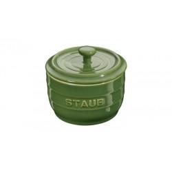 Saliera 10 cm Verde Basilico in Ceramica