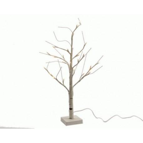 Albero con luci led da esterno h125 cm 48 led
