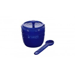 Zuccheriera con Cucchiaio 9 cm Blu Scura in Ceramica