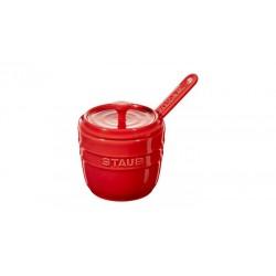 Zuccheriera con Cucchiaio 9 cm Rossa in Ceramica