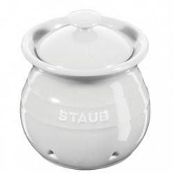 Porta Aglio 11 cm Bianco in Ceramica