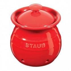 Porta Aglio 11 cm Rosso in Ceramica