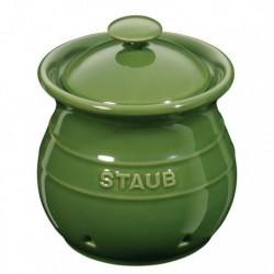 Porta Aglio 11 cm Verde Basilico in Ceramica