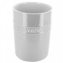 Porta Utensili 11 cm Bianco in Ceramica