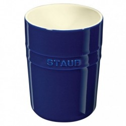 Porta Utensili 11 cm Blu Scuro in Ceramica