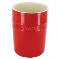 Porta Utensili 11 cm Rosso in Ceramica
