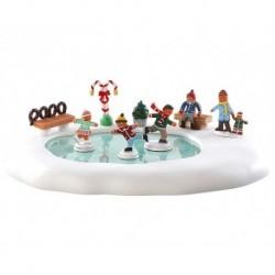 Gingerbread Skating Pond B/O 4.5V Cod. 84352