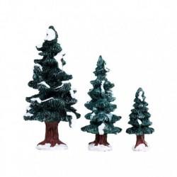 Christmas Evergreen Tree Set of 3 Cod. 84407