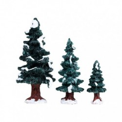 Christmas Evergreen Tree, Set Of 3 Cod. 84407