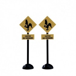 Elf Crossing Sign Set of 2 Cod. 74238