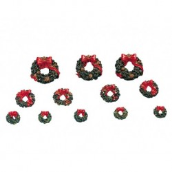 Wreaths With Red Bow Set of 12 Cod. 34957