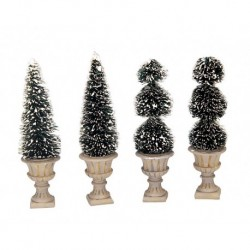 Cone-Shaped & Sculpted Topiaries Set of 4 Cod. 34965