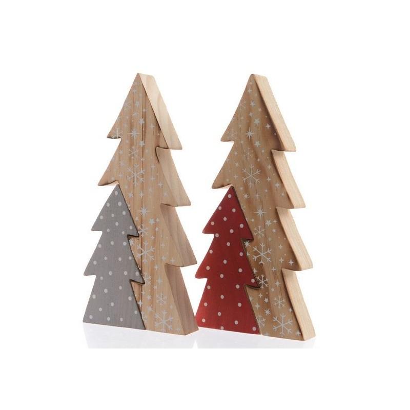 Albero di natale piccolo in legno stilizzato pezzo singolo for Albero di natale di legno