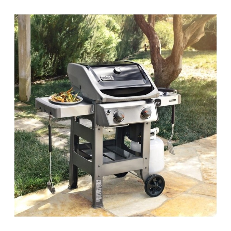 Weber original shop barbecue a gas spirit ii e 210 black for Giordano shop barbecue a gas