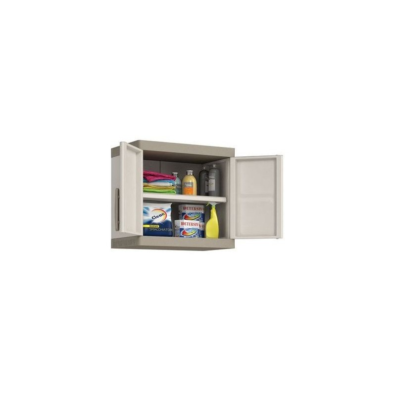 Kis Armadio In Resina Serie Excellence.Keter Armadio Excellence Pensile Con 1 Ripiano 65 X 39 X 56 5h Kis Colore Sabbia