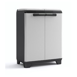 Keter Split Cabinet Recycling Premium - Armadio Per La Raccolta Differenziata Con Piedini E Apertura A Pressione - 68X39X92H