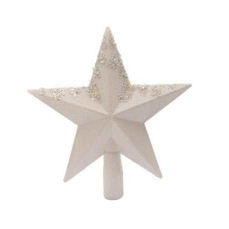 Puntale A Stella Per Albero Di Natale.Puntale A Stella Bianco 20 Cm Per Albero Di Natale