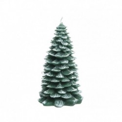 Candela di Cera a Forma di Albero di Natale con Glitter 18 cm