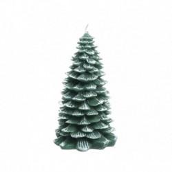 Candela di Cera a Forma di Albero di Natale con Glitter 12 cm