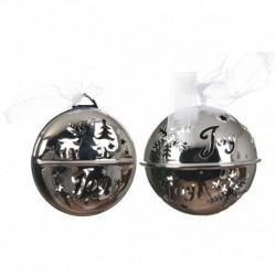 Pallina da Appendere in metallo Argento 8 cm. Pezzo Singolo