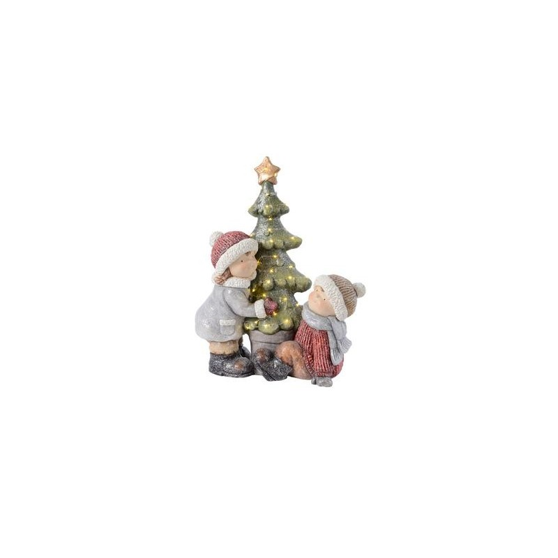 Albero Di Natale 50 Cm.Bambini Con Albero Di Natale 50 Cm