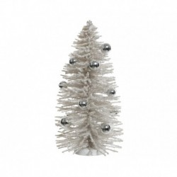 Albero di Natale con Palline e Glitter 35 cm
