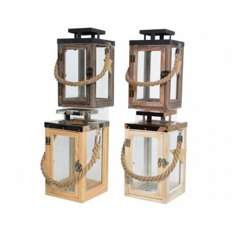 Lanterna in Legno 26 cm. Pezzo Singolo
