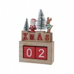 Calendario Natale in Legno 26 cm