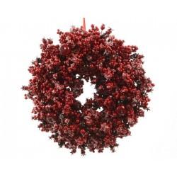 Corona di bacche rosse